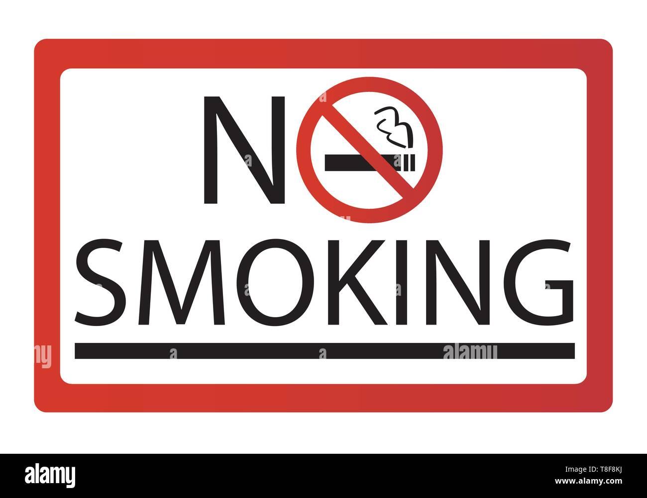 No smoking sign vector - Stock Image