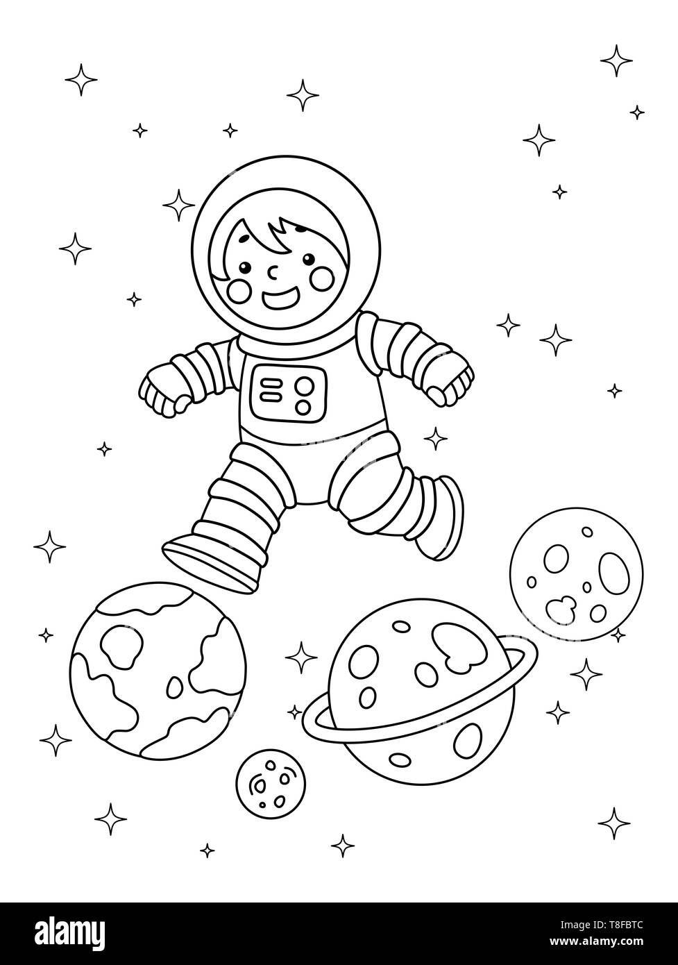 Astronaut coloring page stock illustration. Illustration of ... | 1390x977