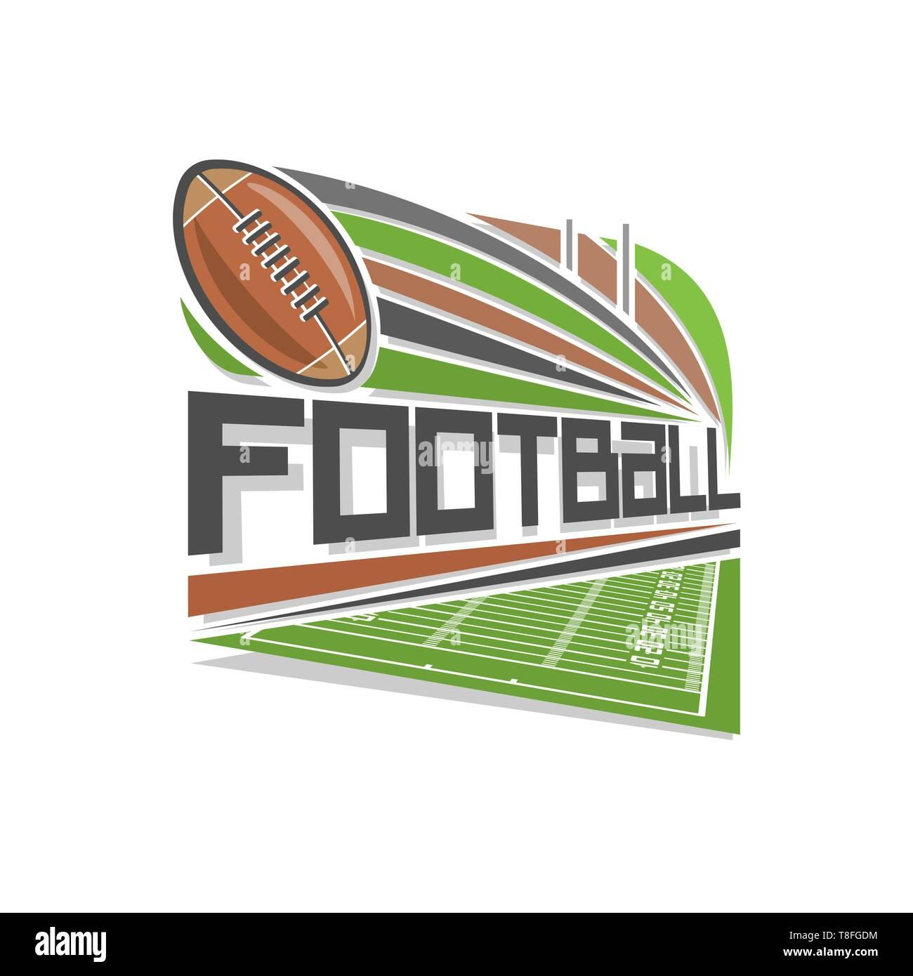Vector logo for american football - Stock Vector
