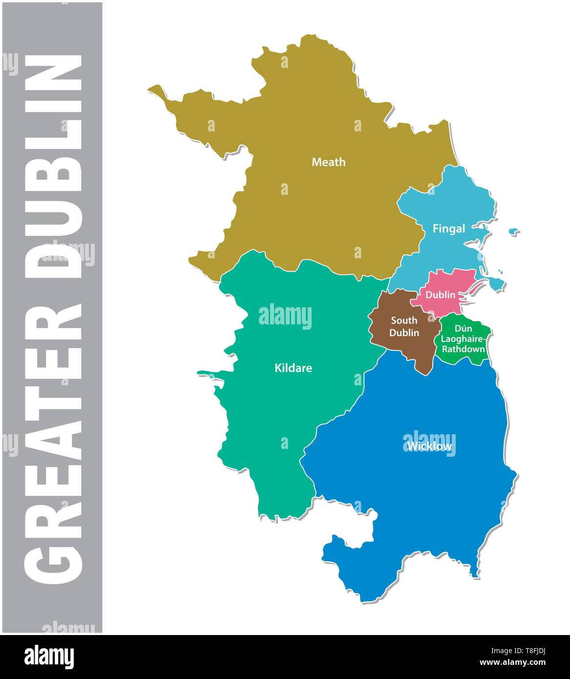 Map Of Dublin High Resolution Stock Photography And Images Alamy Województwo wielkopolskie (greater poland voivodeship). https www alamy com greater dublin area administrative and political vector mapeps image246206174 html
