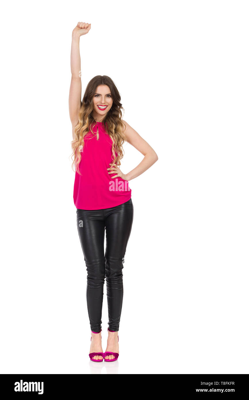ed6ff0990 Black Leather Pants Stock Photos   Black Leather Pants Stock Images ...