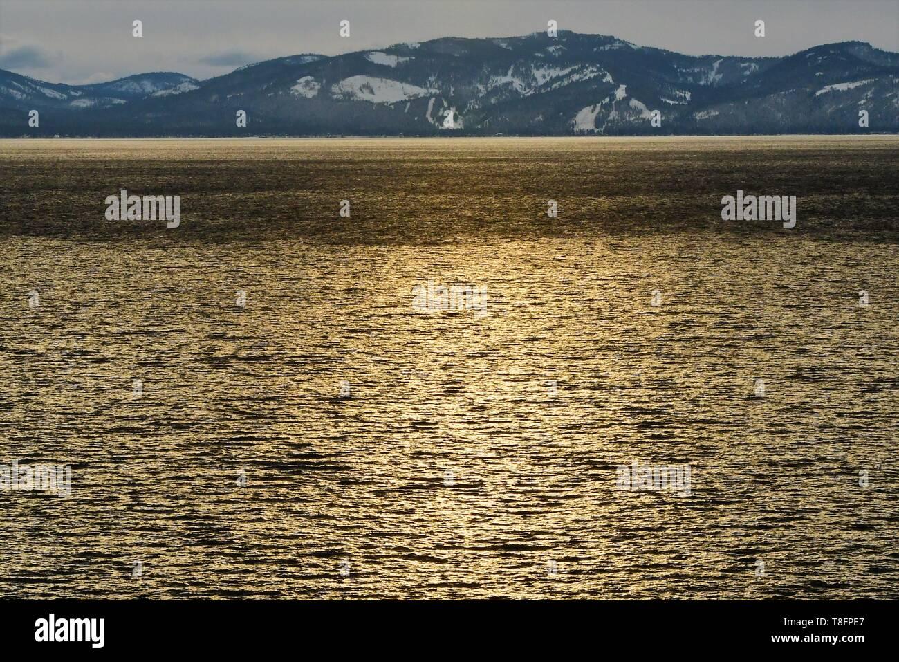 Golden Lake - Stock Image