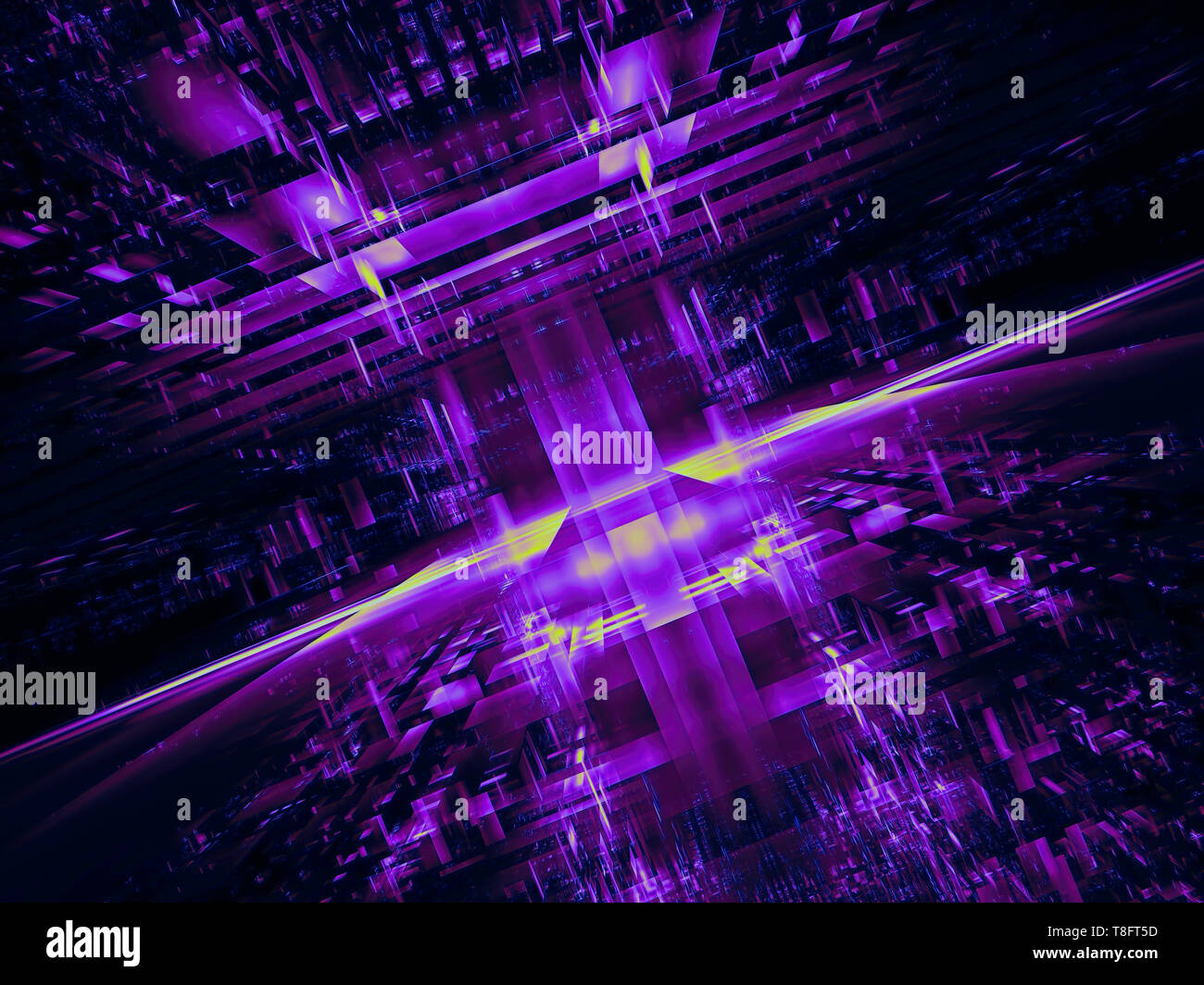 Abstract futuristic portal or space station - digitally generated image - Stock Image