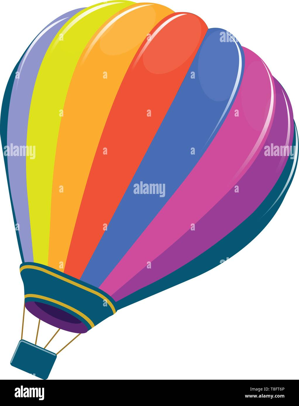 - A Picture Of A Very Colorful Hot Air Balloon, Vector, Color