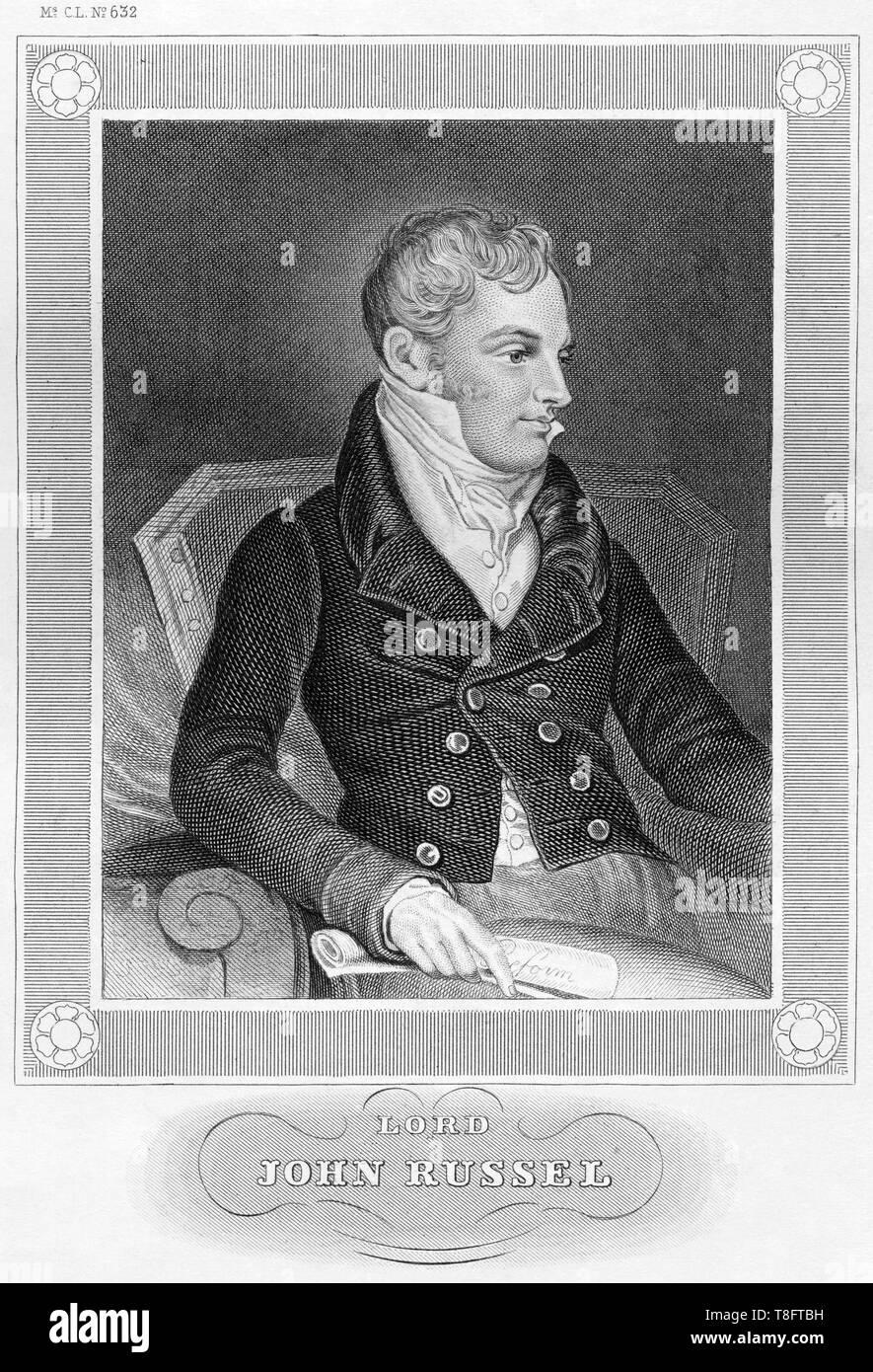 Europa, Großbritannien, London, John Russel, 1. Earl Russel, britischer Politiker, Stahlstich, um 1850er Jahre, Künstler unbekannt .  /  Europe, Great - Stock Image