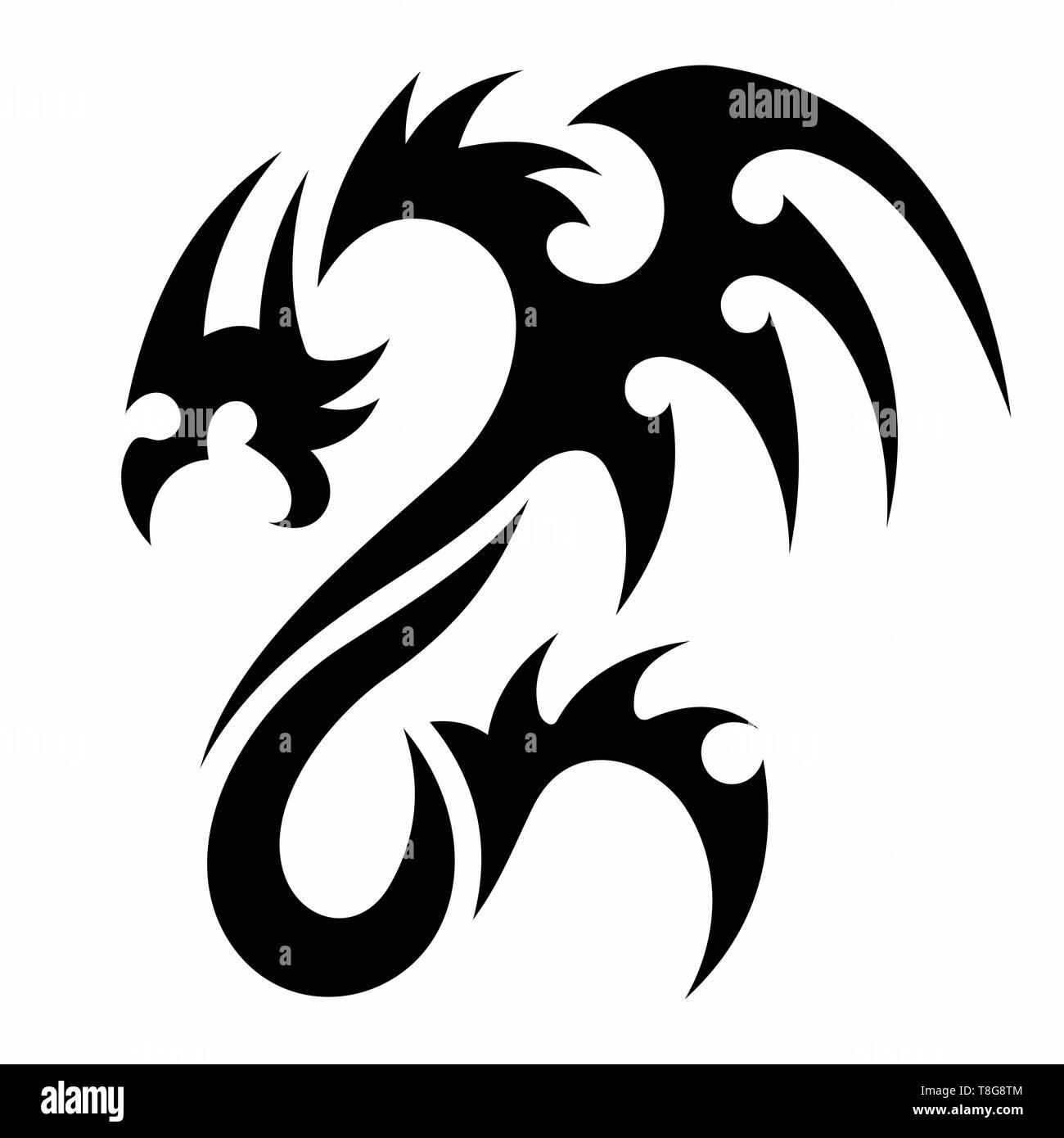 Dragon Vectors For Tattoo Designs T Shirt Designs Logos Symbols Easy To Apply Stock Vector Image Art Alamy