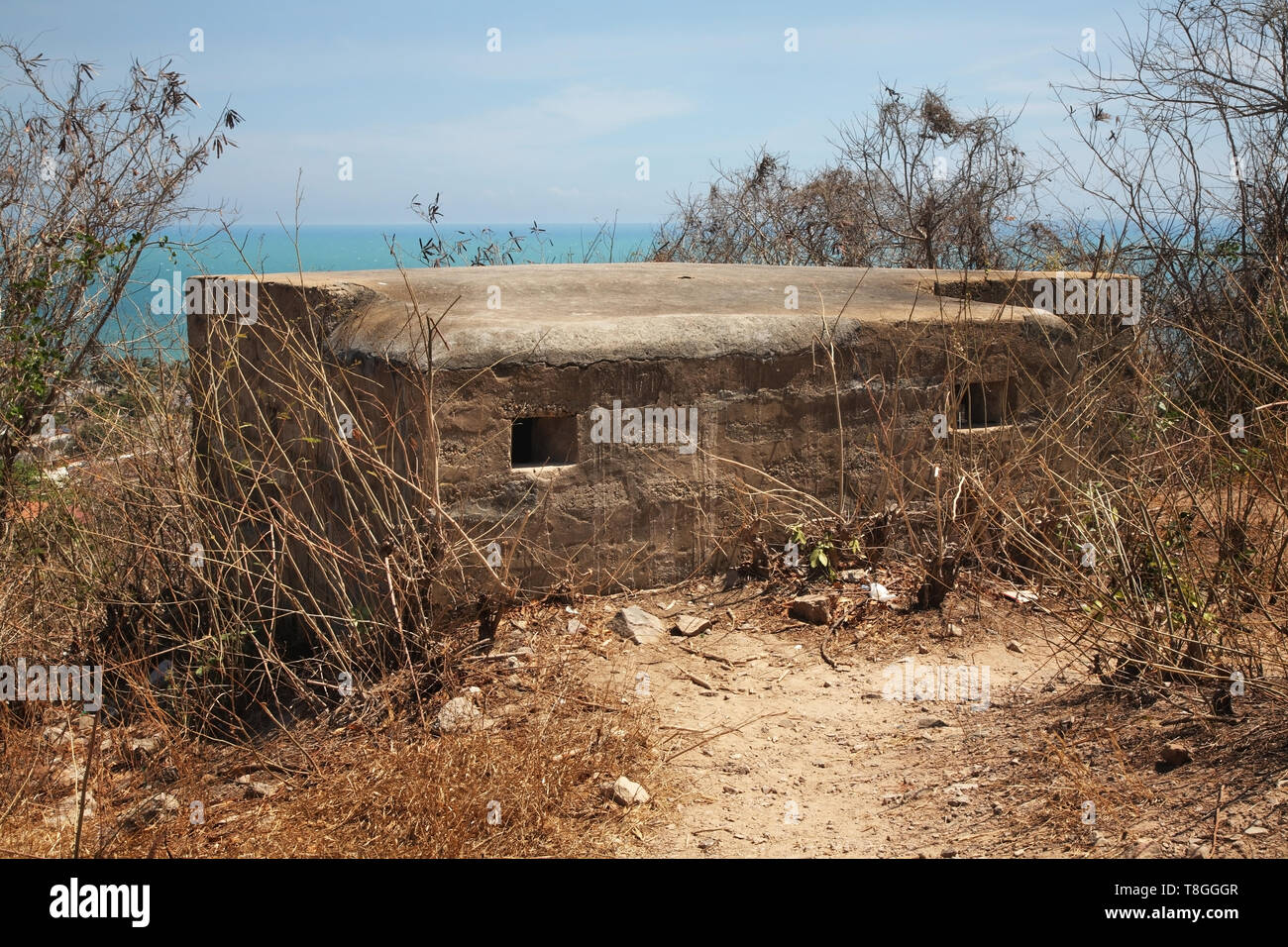 Bunker in Phan Thiet. Vietnam - Stock Image