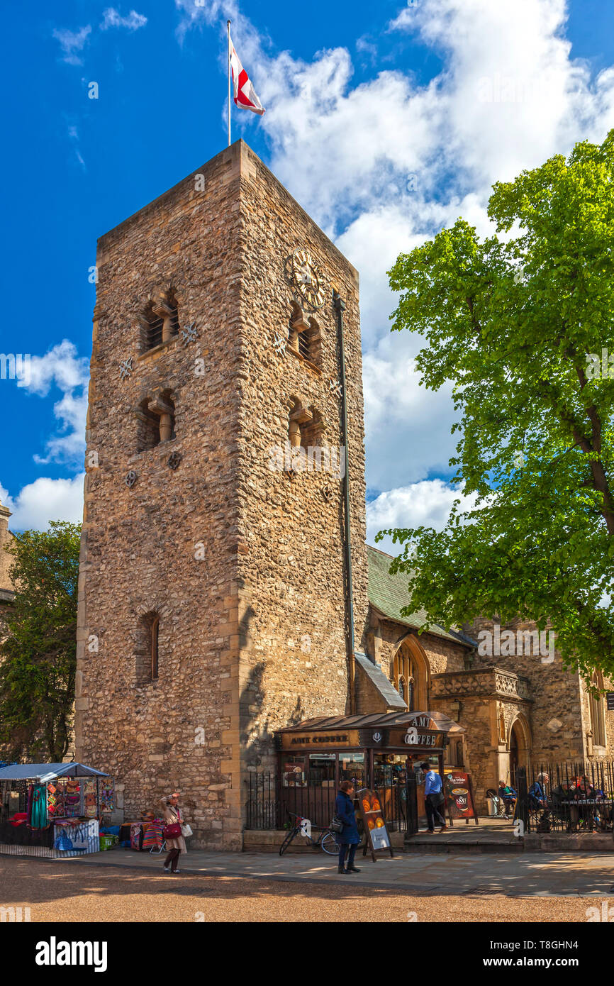 The oldest building in Oxford. St Michael at the North Gate Church built around 1000–1050. - Stock Image