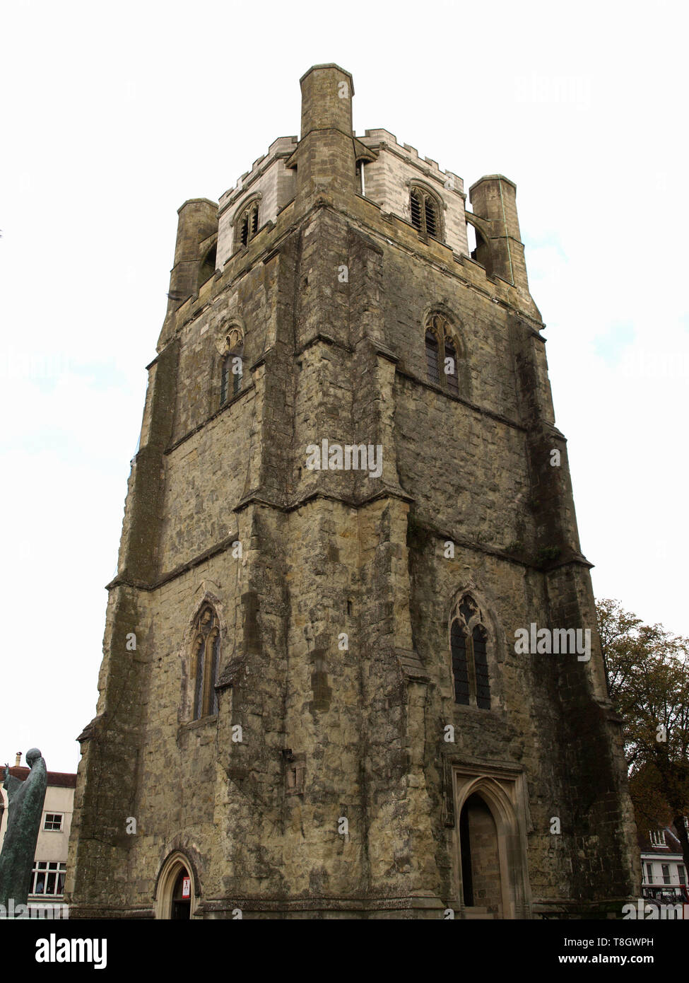 The Bell Tower at Chichester Cathedral, West Sussex, England, UK - Stock Image