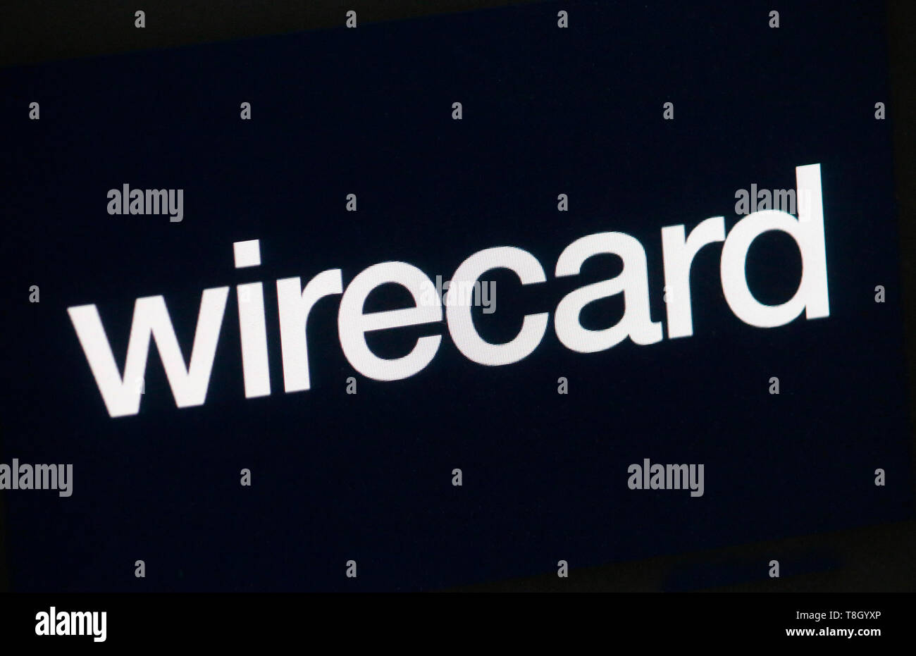 the logo of the brand 'Wirecard'. - Stock Image