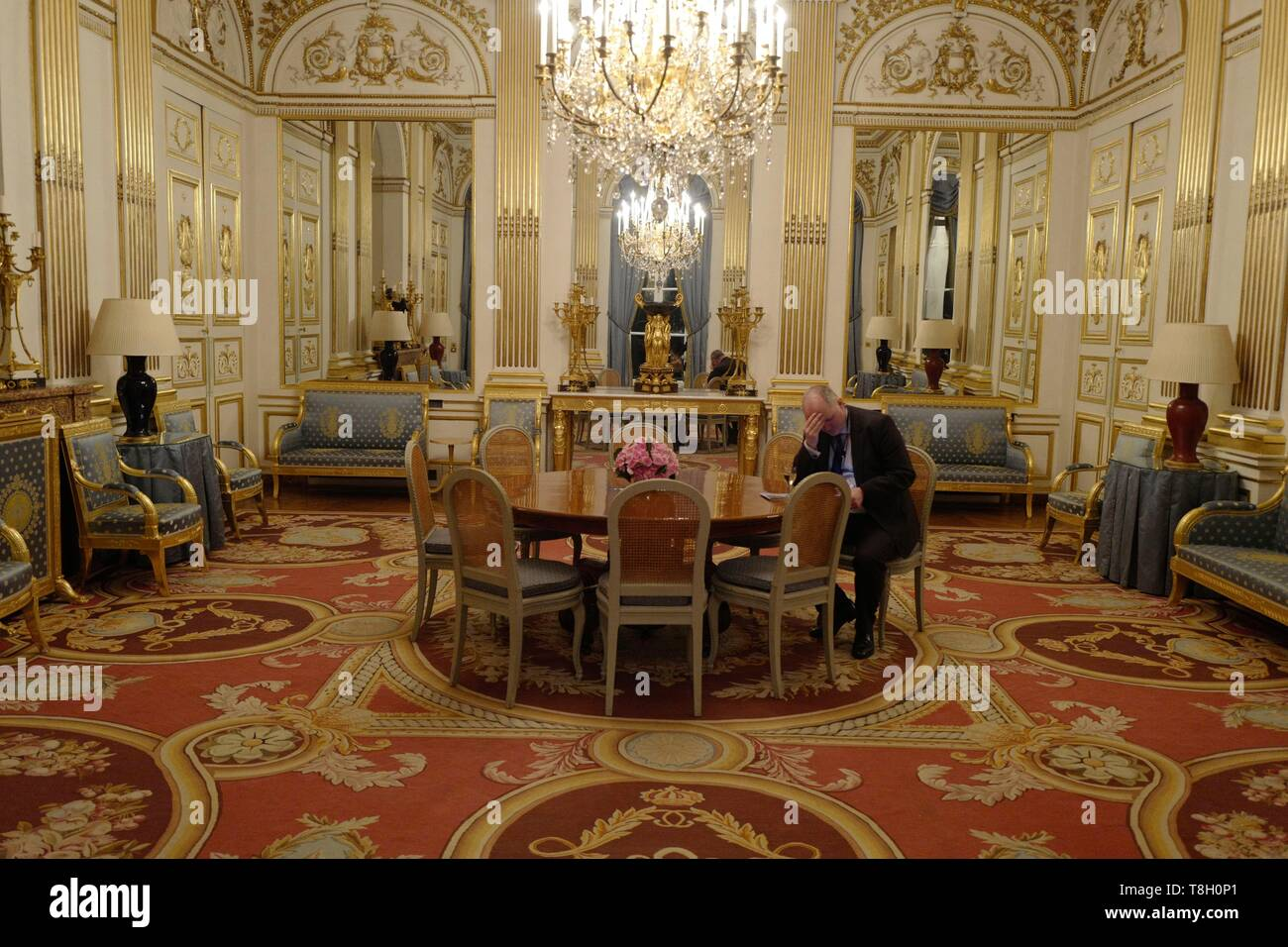 France, Paris, First empire style living room Stock Photo