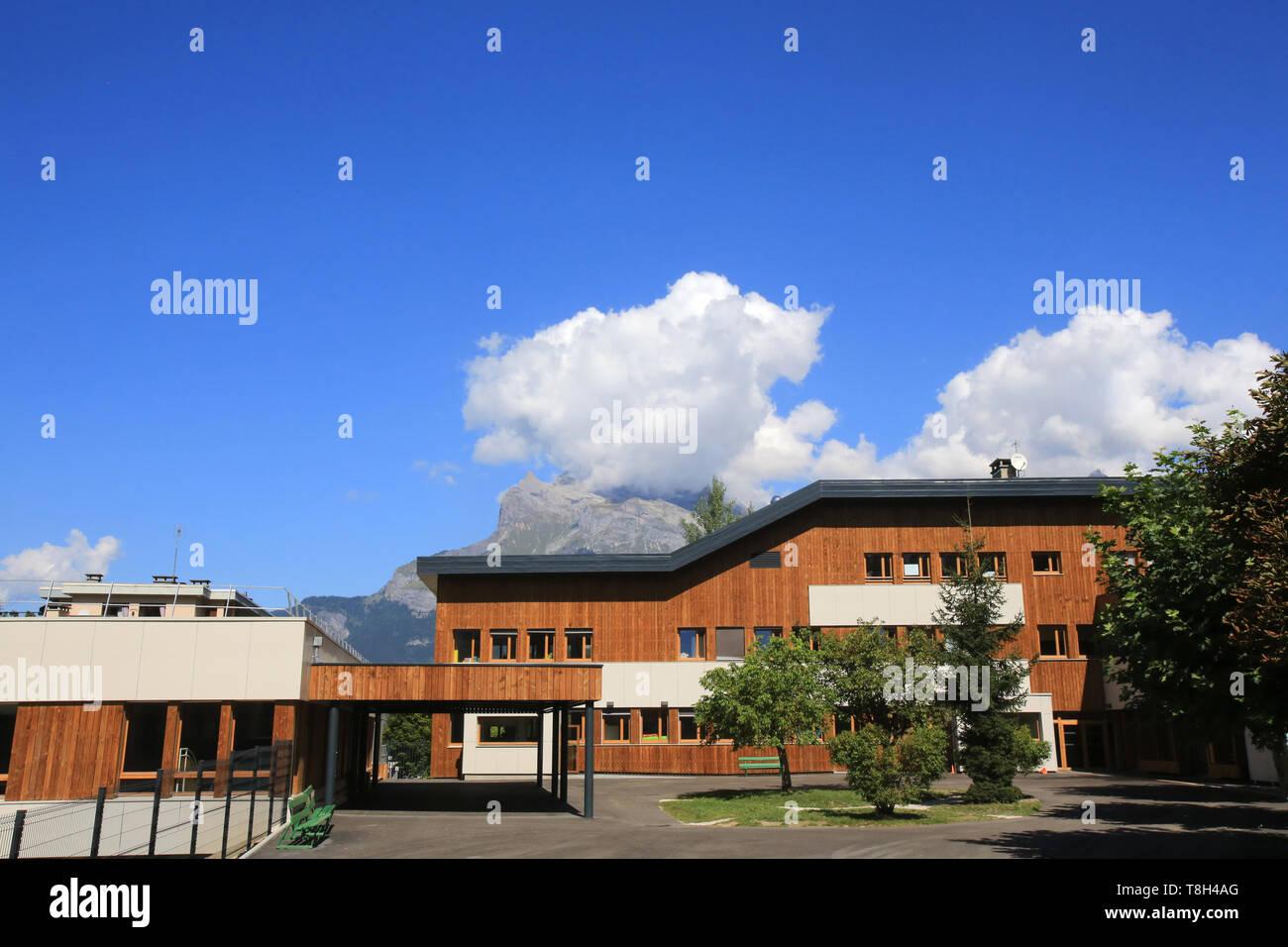 Ecole Marie-Paradis. Saint-Gervais-les-Bains. - Stock Image