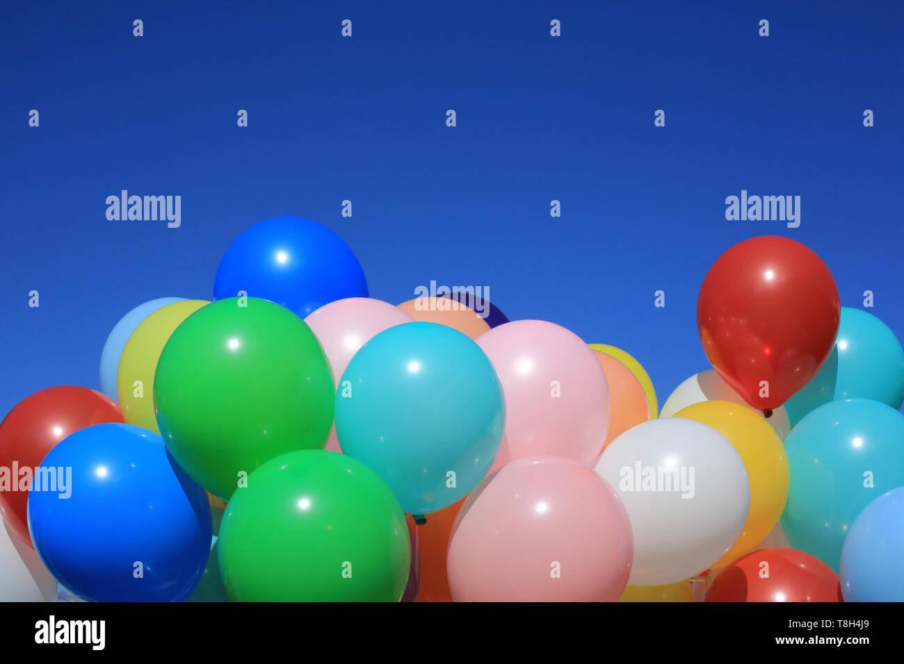 Ballons de baudruche de toutes les couleurs. - Stock Image