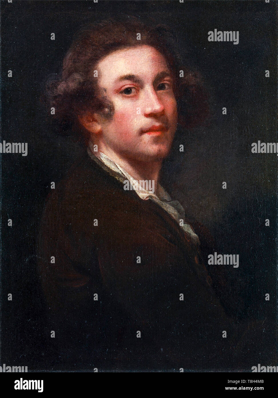 Sir Joshua Reynolds (1723–1792), Self Portrait, painting c. 1750 aged 27 - Stock Image