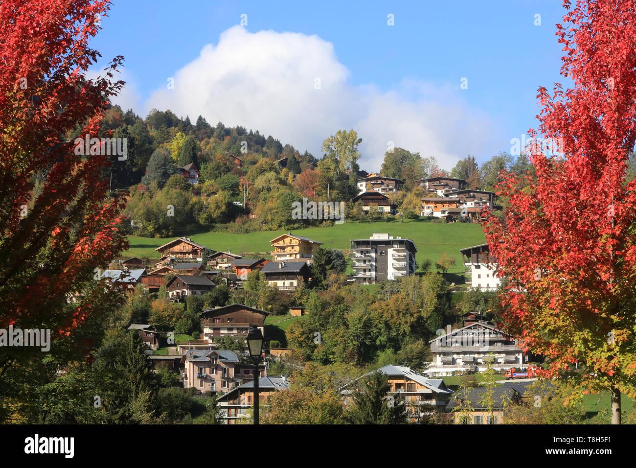 Village. Saint-Gervais-les-Bains. - Stock Image