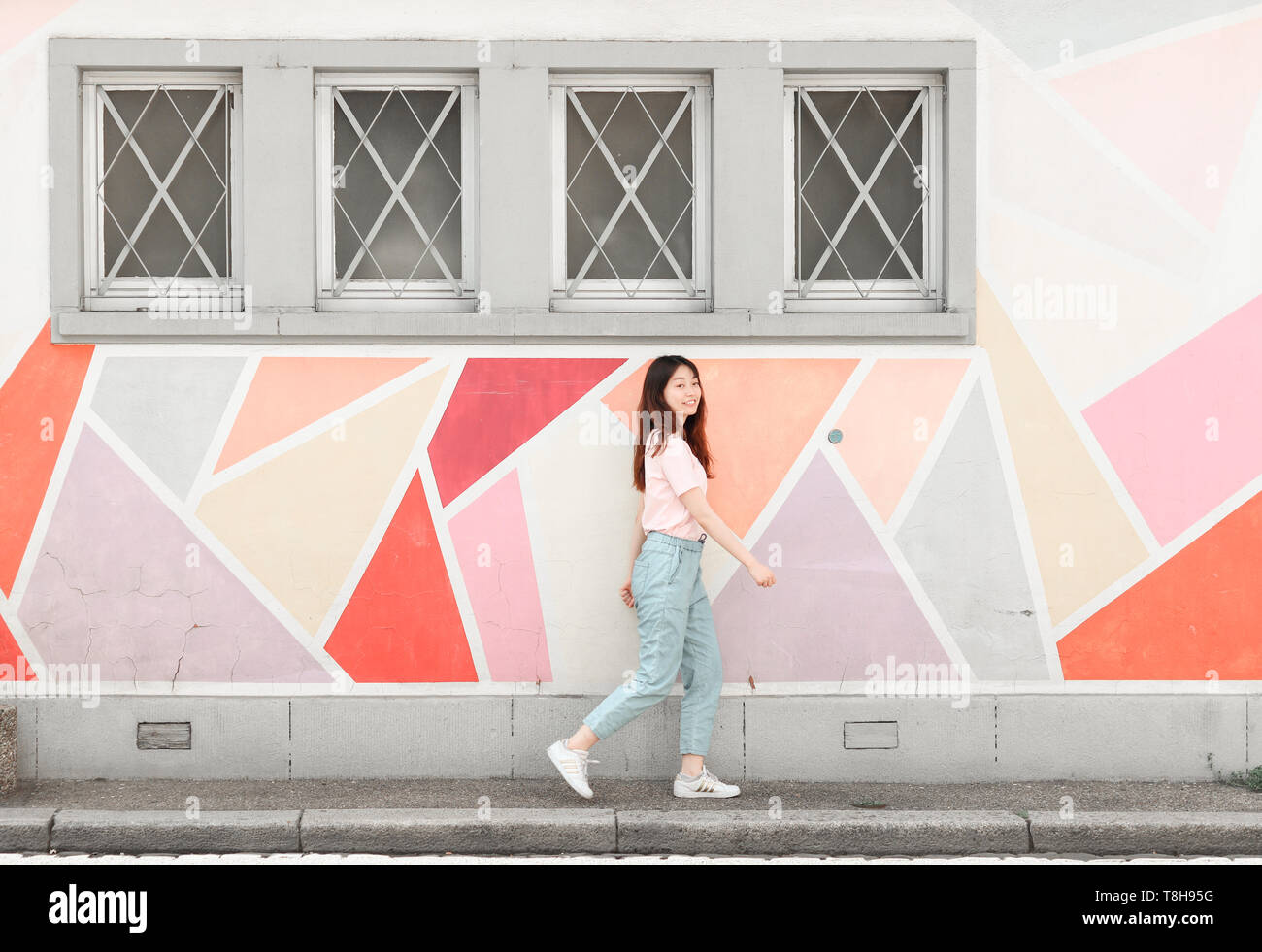 Geometric Wall Design Grey
