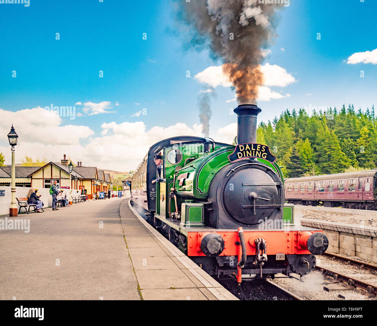 Sir Robert Alpine and Sons, Engine No. 88. Embsay and Bolton steam railway. Bolton Station, Yorkshire Dales, UK. Stock Photo