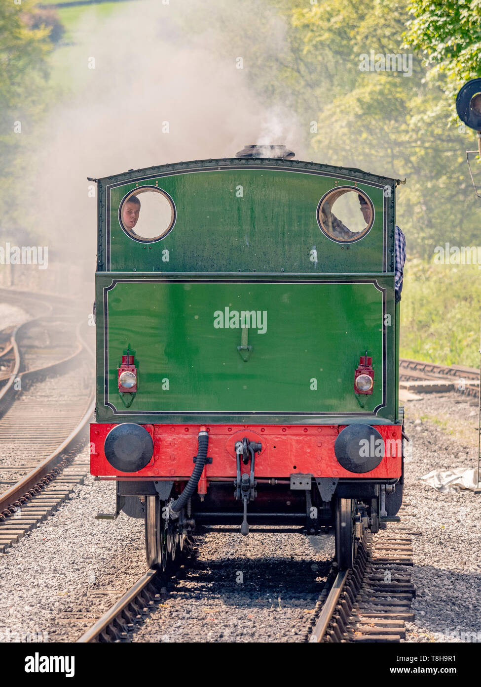 Sir Robert Alpine and Sons, Engine No. 88. Embsay and Bolton steam railway. Bolton Station, Yorkshire Dales, UK. - Stock Image