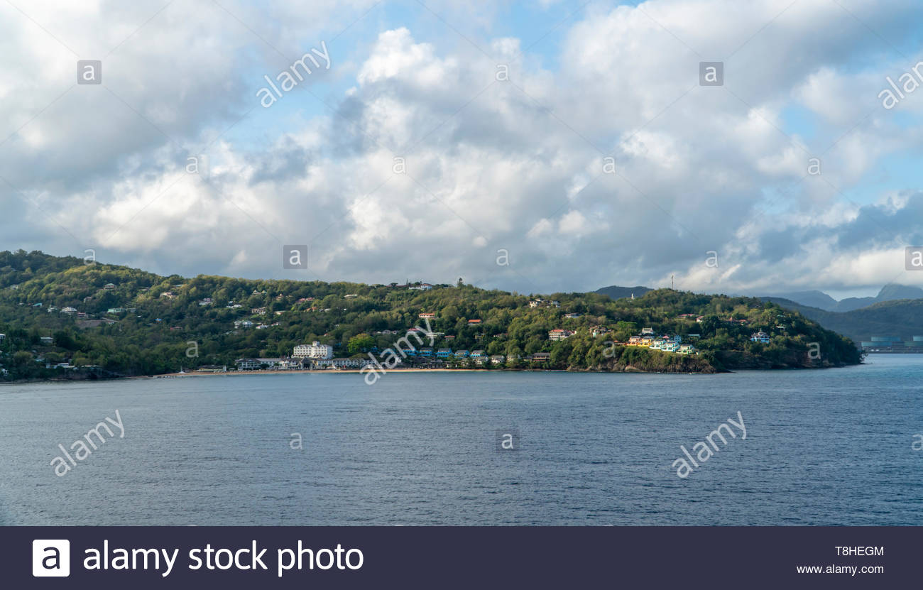 Sandals Regency La Toc all-inclusive resort near  Castries on the island of Saint Lucia, West Indies, Caribbean Sea - Stock Image