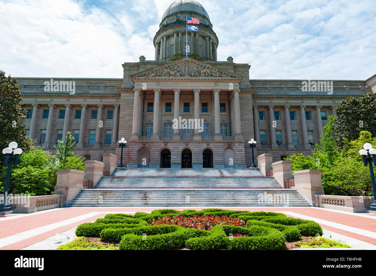 Kentucky State Capitol in Frankfort Kentucky - Stock Image