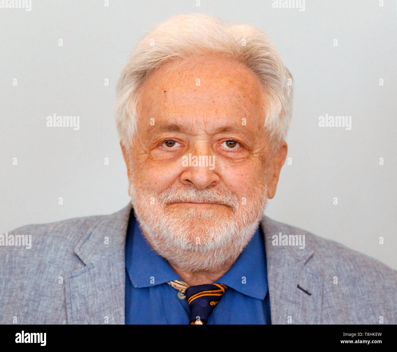 Duisburg, Germany. 13th May, 2019. The publicist Henryk M. Broder, accused of insult. In September 2016, at the request of the weekly newspaper 'Junge Freiheit', Broder had said about the Islamic scholar Lamya Kaddor that she had 'a gossip on her hands'. Broder appealed against an order of punishment, which is why the trial is now at trial. Credit: Roland Weihrauch/dpa/Alamy Live News - Stock Image