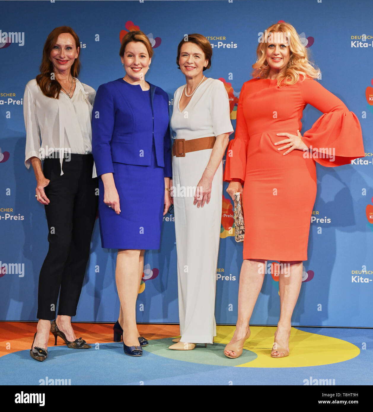 Berlin Germany 13th May 2019 Andrea Sawatzki L R Actress Franziska Giffey Spd Federal Minister Of Family Affairs Elke Budenbender Patron Of The German Children And Youth Foundation And Barbara Schoneberger Presenter Will