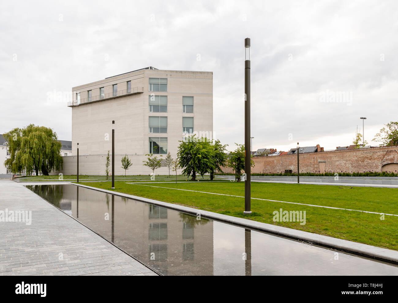 Mechelen, Belgium - May 6, 2019: Kazerne Dossin  Memorial in commemoration of the holocaust, designed by Bob Van Reeth Stock Photo