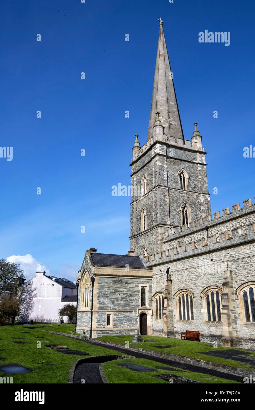 United Kingdom, Northern Ireland, Ulster, county Derry, Derry, St Columb's Cathedral - Stock Image