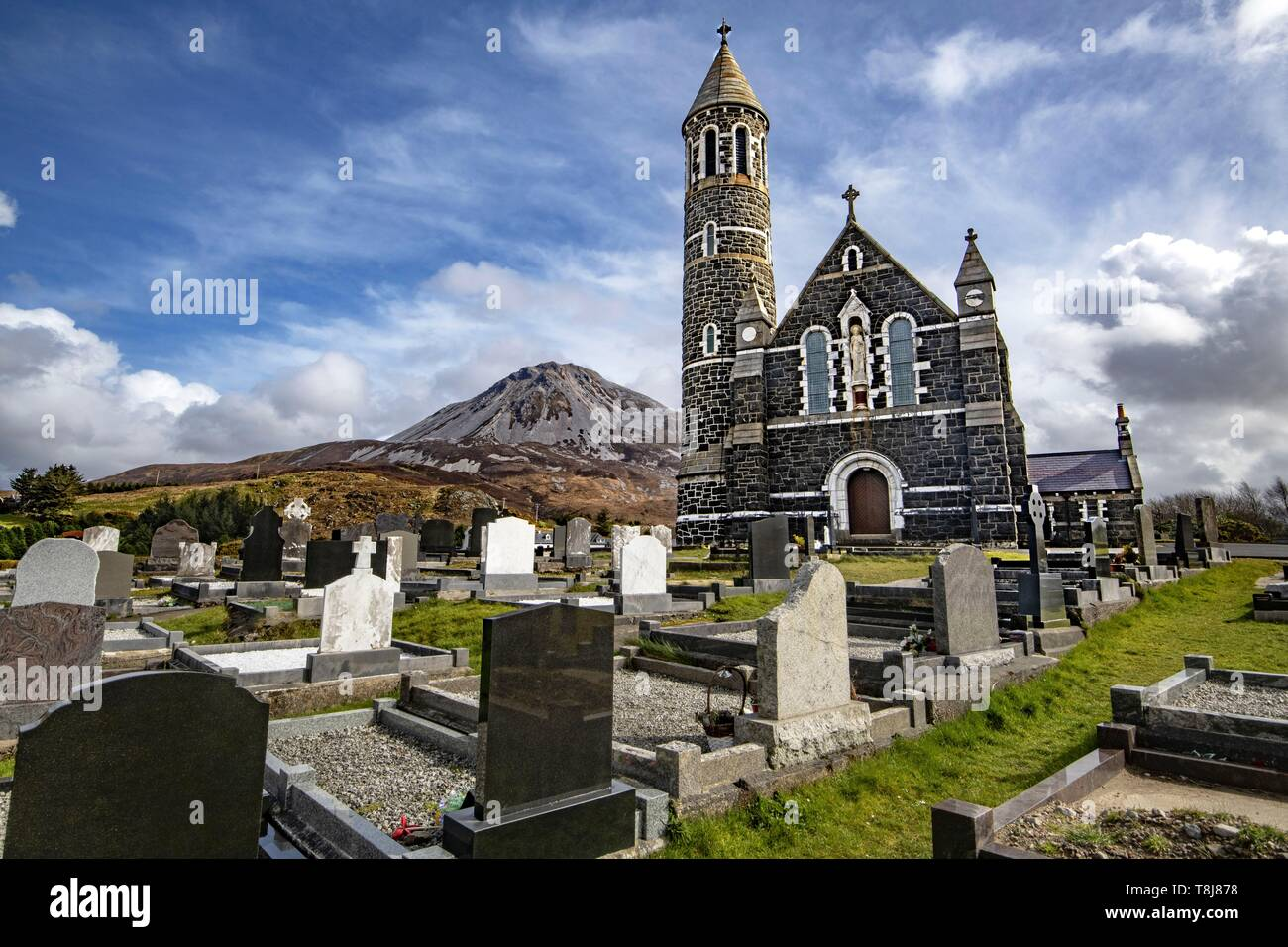 Ireland, County Donegal, Glenveagh National Park, Dunlewy, Sacred Heart catholic church - Stock Image