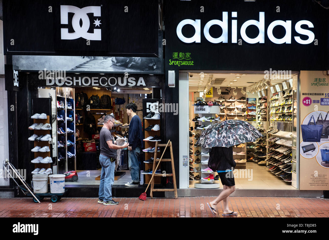 Adidas and DC Shoes stores seen in Hong Kong Stock Photo