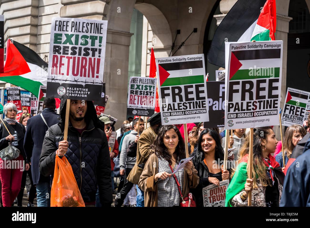 National Demonstration for Palestine, London, UK 11/05/2019 - Stock Image