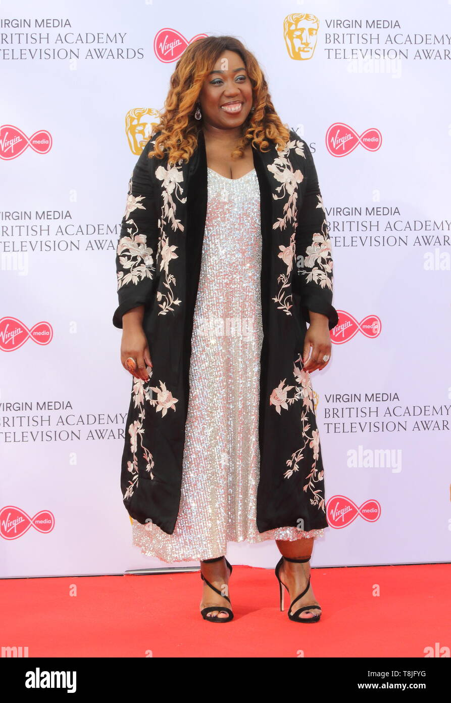 Chizzy Akudolu seen on the red carpet during the Virgin Media BAFTA Television Awards 2019 at The Royal Festival Hal in London. Stock Photo