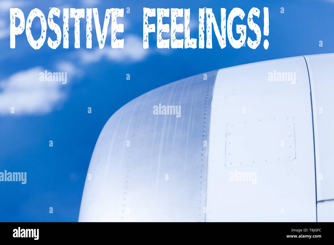 Word writing text Positive Feelings. Business photo showcasing any feeling where there is a lack of negativity or sadness - Stock Image