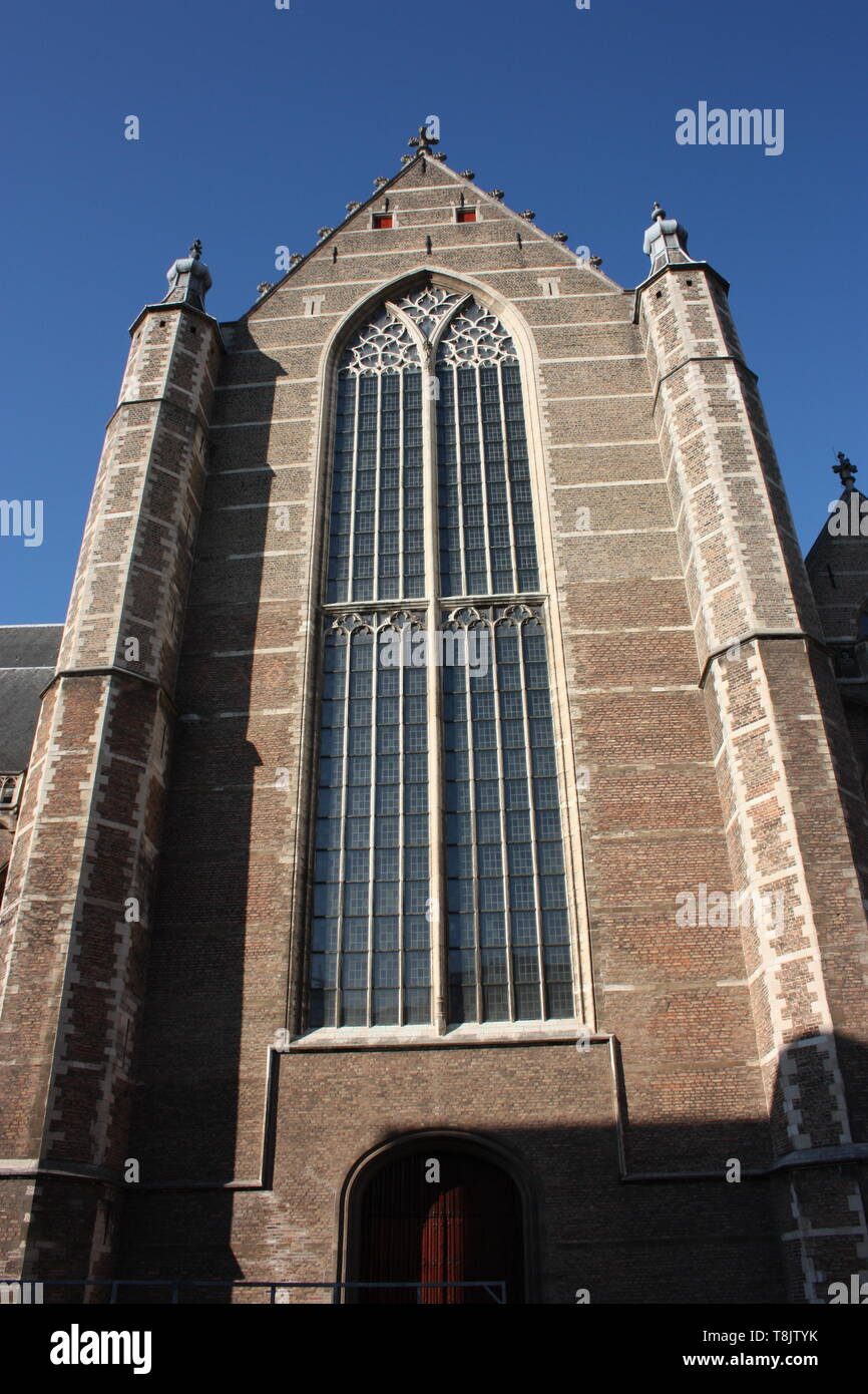 view on the church of San Lorenzo in Rotterdam, the Dutch metropolitan city on a beautiful spring day - Stock Image