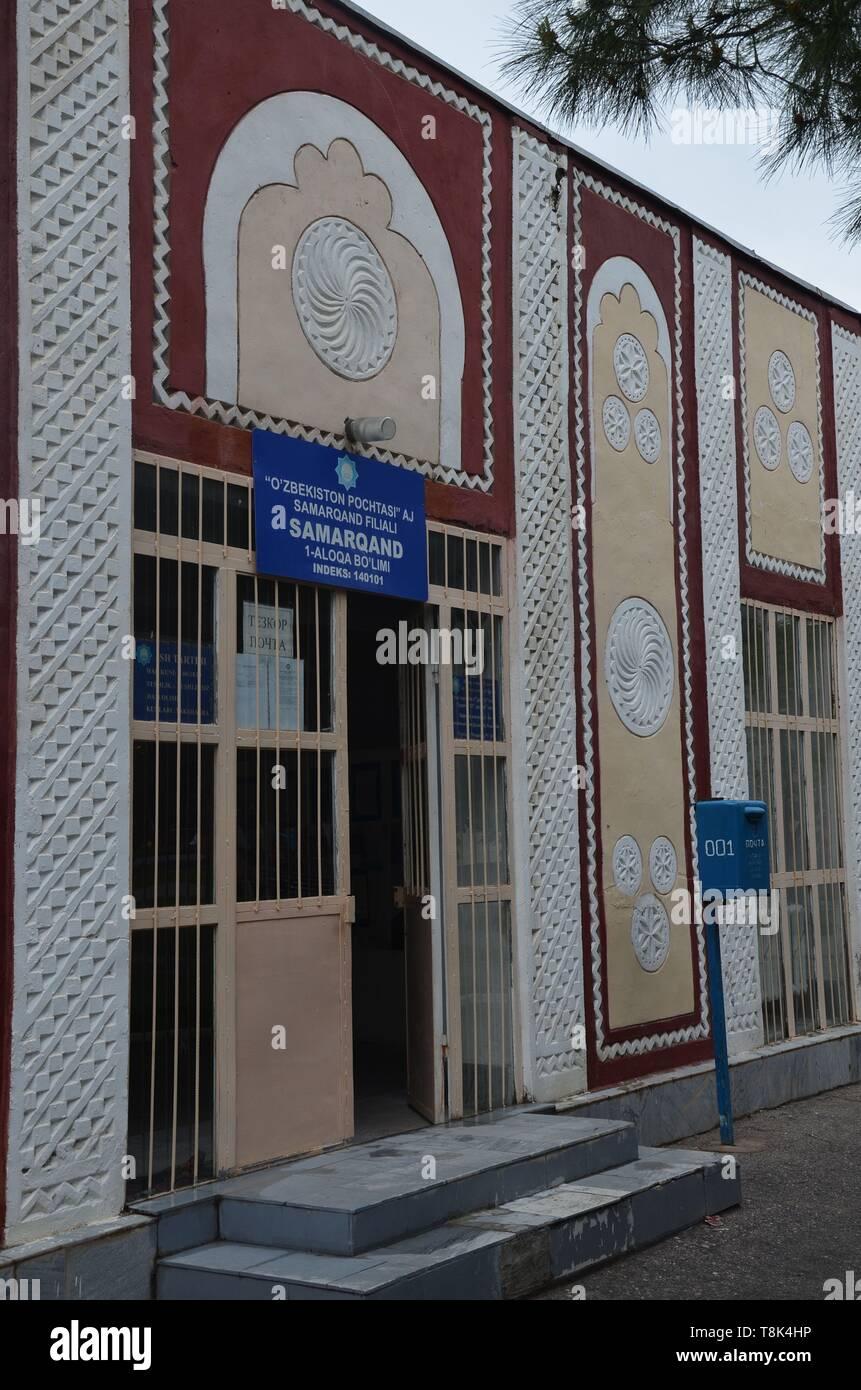 Samarkand, UNESCO Weltkulturerbe in Usbekistan: Postamt in der Altstadt Stock Photo
