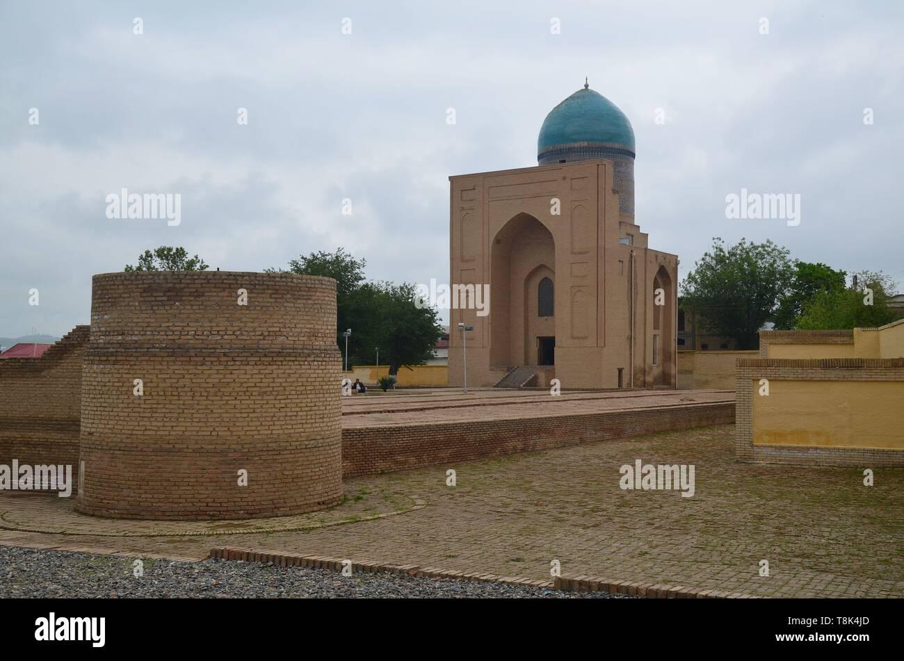 Samarkand, UNESCO Weltkulturerbe in Usbekistan: der Bibi Xanum Moscheen- und Mausoleumskomplex Stock Photo