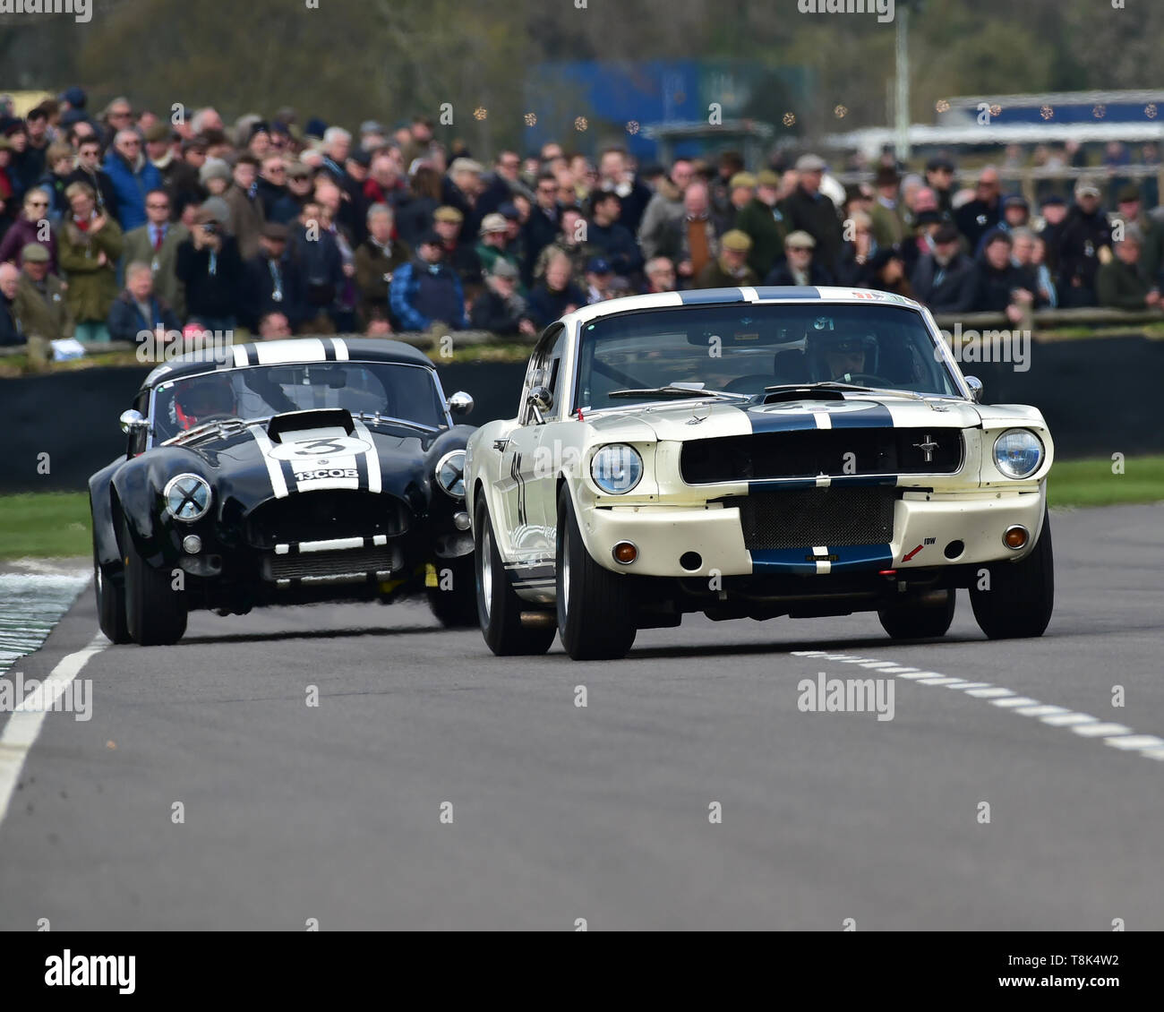 Joel Wykeham, Nicholas Sleep, Ford Shelby Mustang 350 GT, Graham Hill Trophy, Closed cockpit GT cars, Prototype cars, Spirit of the RAC TT Races 1960- - Stock Image