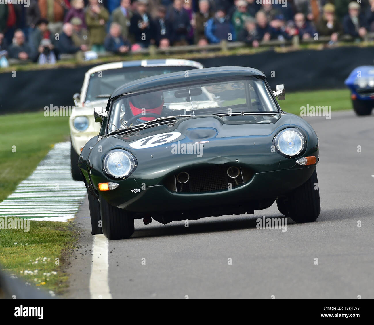 Sam Hancock, Gregor Fisken, Jaguar E-Type semi-lightweight, Graham Hill Trophy, Closed cockpit GT cars, Prototype cars, Spirit of the RAC TT Races 196 - Stock Image