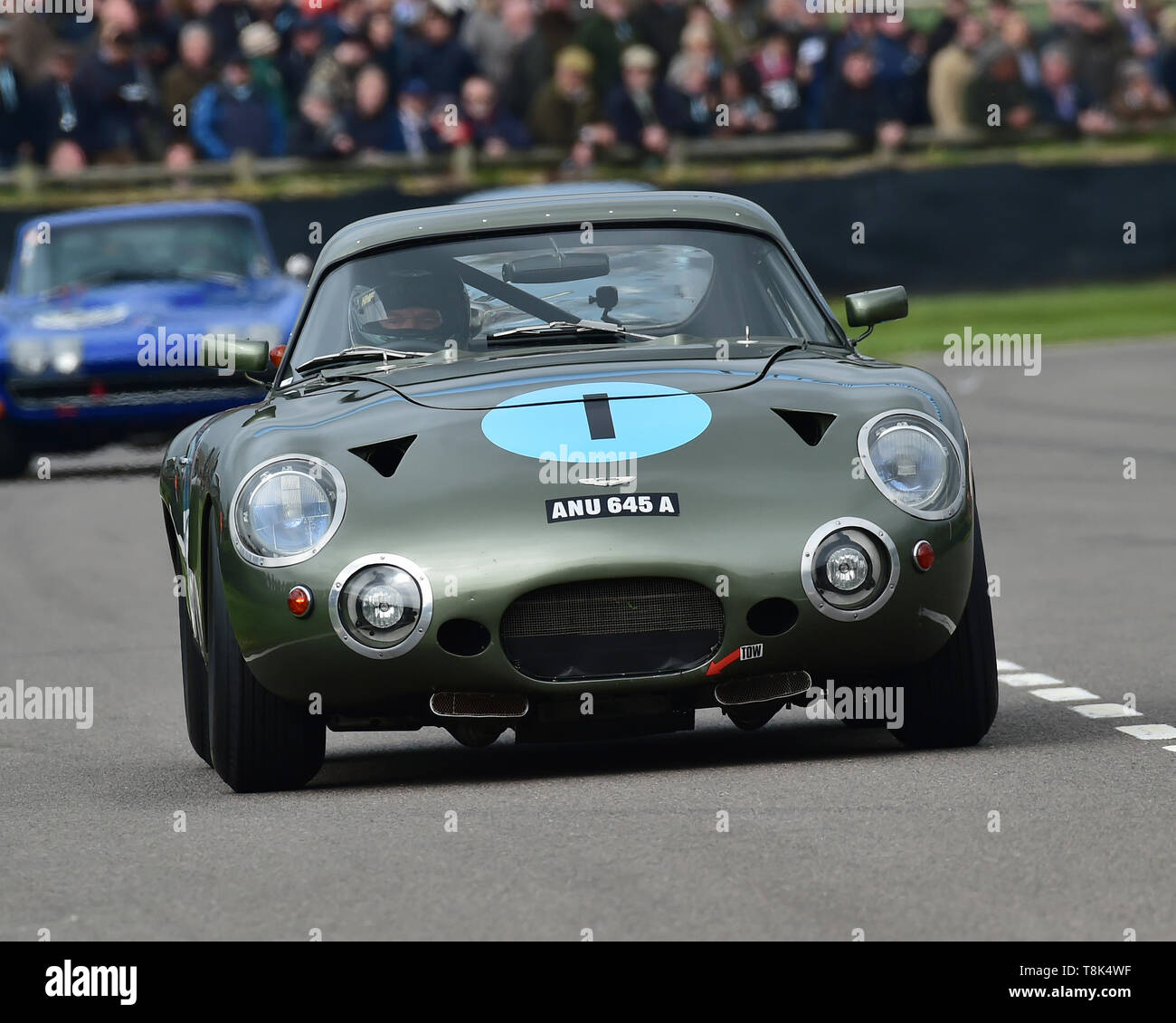Wolfgang Friedrichs, Simon Hadfield, Aston Martin DP214, Graham Hill Trophy, Closed cockpit GT cars, Prototype cars, Spirit of the RAC TT Races 1960-1 - Stock Image