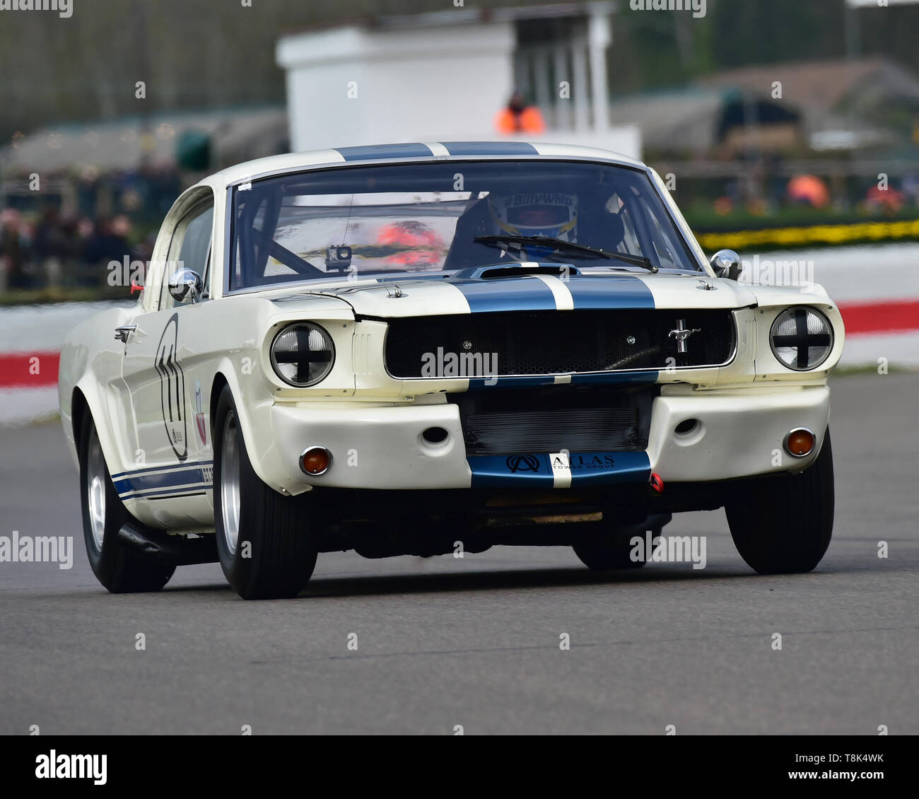 Emanuele Pirro, Ben Mitchell, Ford Shelby Mustang 350 GT, Graham Hill Trophy, Closed cockpit GT cars, Prototype cars, Spirit of the RAC TT Races 1960- - Stock Image