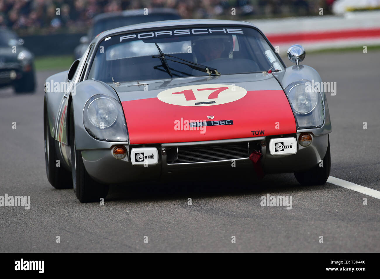 David Clark, Phillip Kadoorie, Porsche 904 Carrera GTS, Graham Hill Trophy, Closed cockpit GT cars, Prototype cars, Spirit of the RAC TT Races 1960-19 - Stock Image