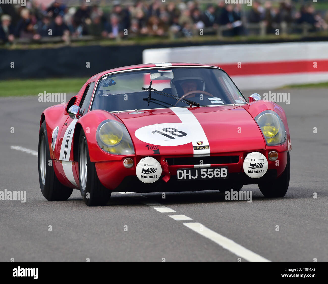 Richard Attwood, Rainer Becker, Porsche 904 Carrera GTS, Graham Hill Trophy, Closed cockpit GT cars, Prototype cars, Spirit of the RAC TT Races 1960-1 - Stock Image