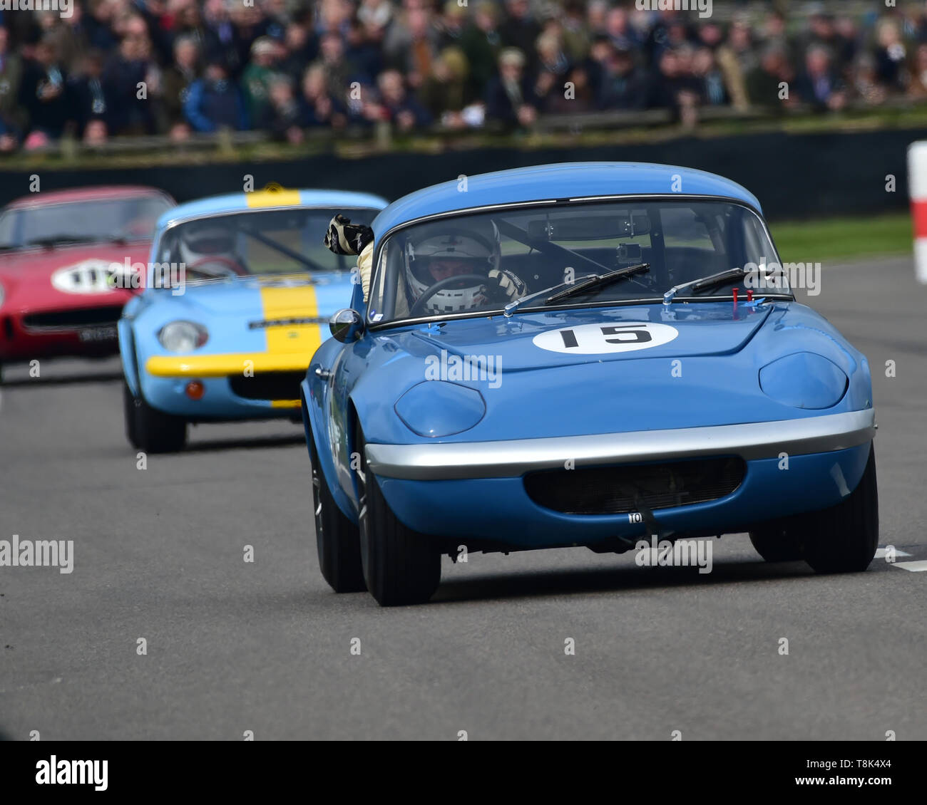 Robin Ellis, Richard Solomons, Lotus Elan 26R Shapecraft, Graham Hill Trophy, Closed cockpit GT cars, Prototype cars, Spirit of the RAC TT Races 1960- - Stock Image