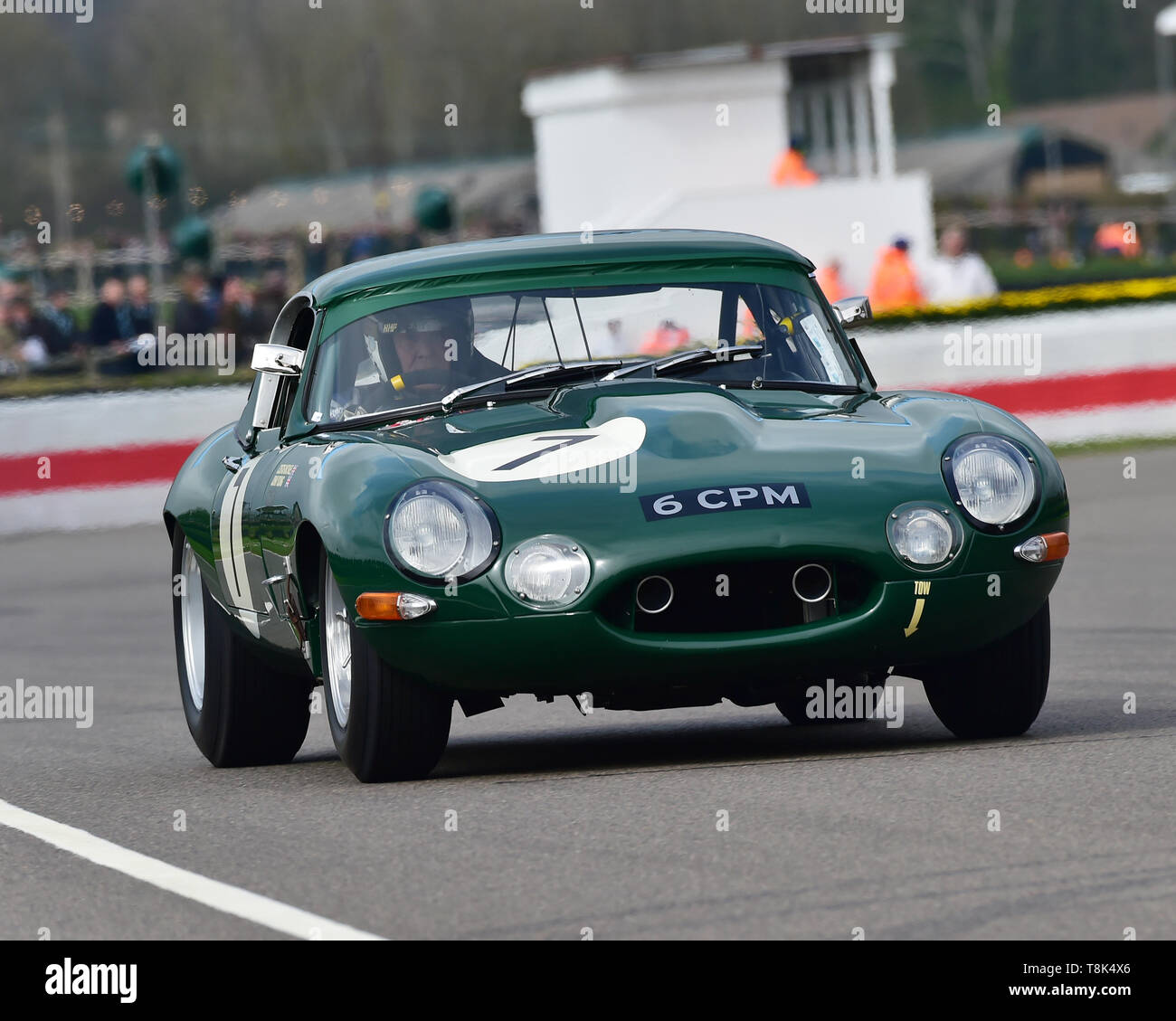 Michael Costas, John Young, Jaguar E-Type semi-lightweight, Graham Hill Trophy, Closed cockpit GT cars, Prototype cars, Spirit of the RAC TT Races 196 - Stock Image