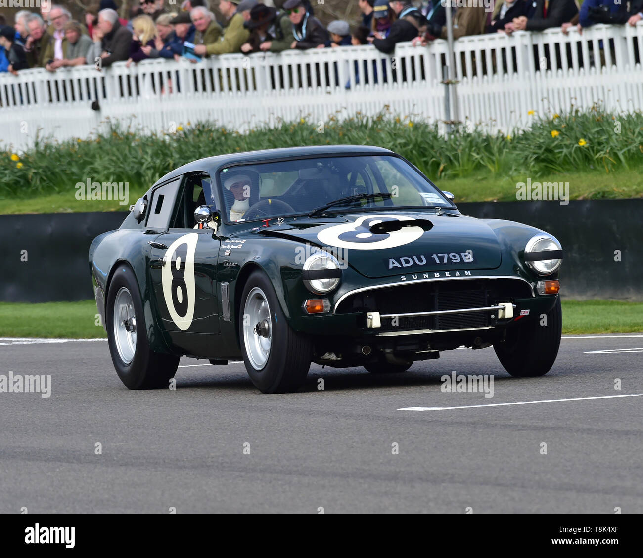 Nigel Greensall, Chris Beighton, Sunbeam Lister Tiger, Graham Hill Trophy, Closed cockpit GT cars, Prototype cars, Spirit of the RAC TT Races 1960-196 - Stock Image