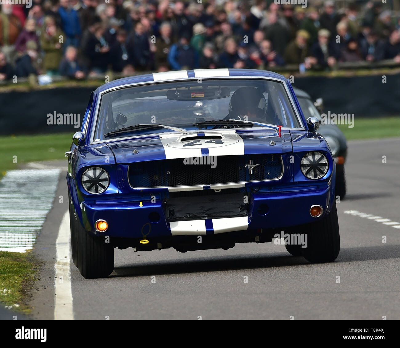 Don Dimitriadis, Chad Parrish, Ford Shelby Mustang GT350, Graham Hill Trophy, Closed cockpit GT cars, Prototype cars, Spirit of the RAC TT Races 1960- - Stock Image