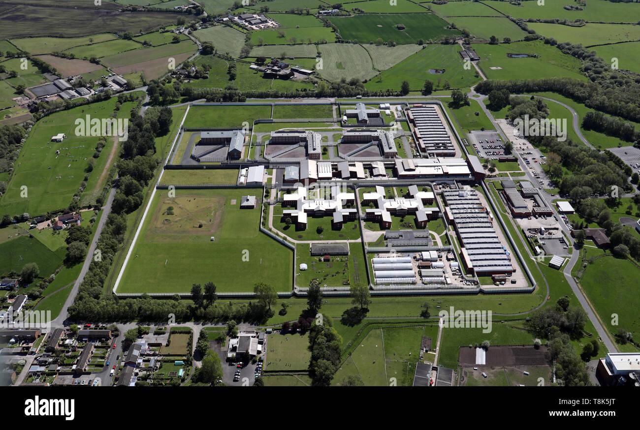 aerial view of HMP Wymott - Stock Image