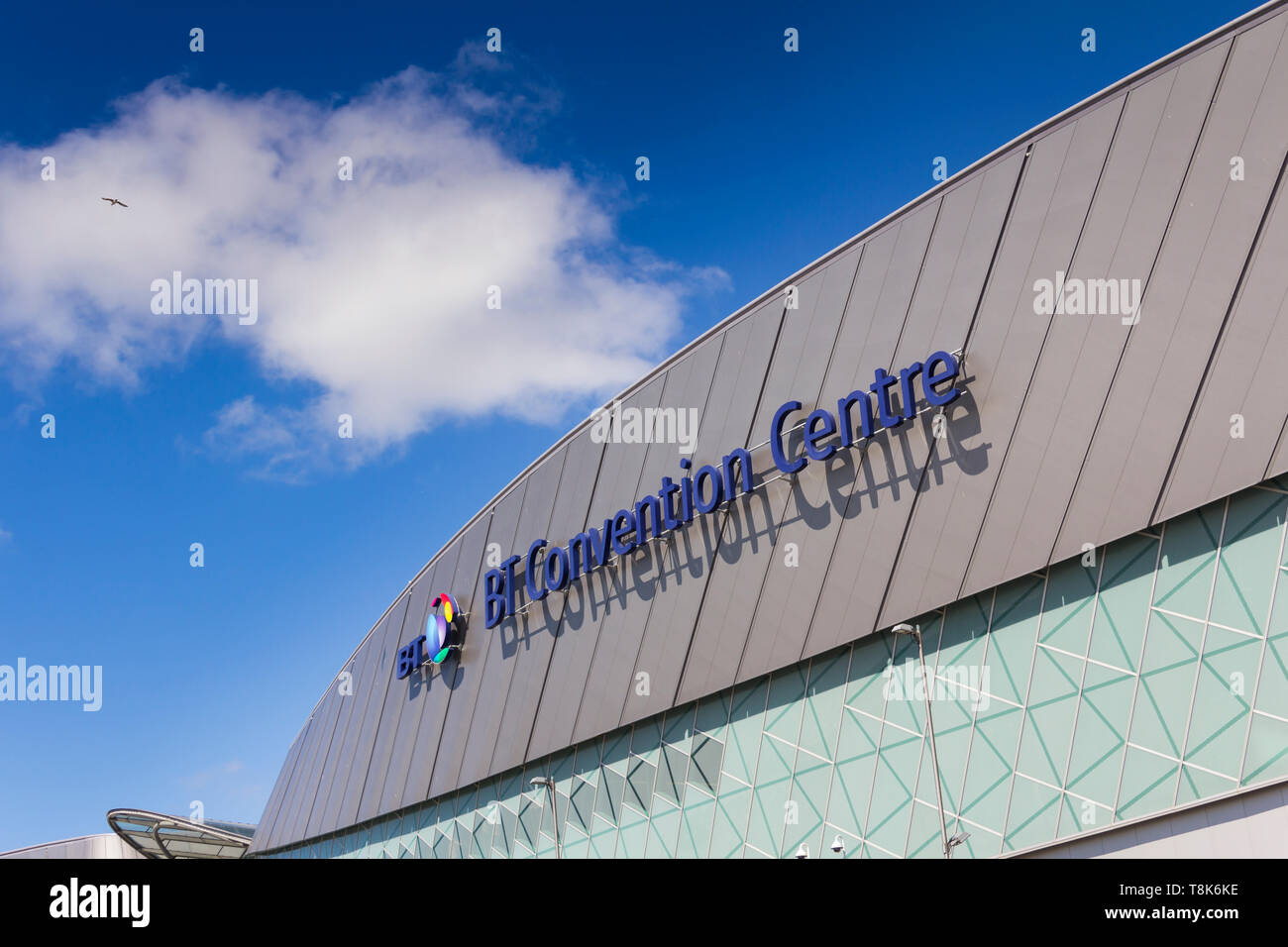 The BT Convention Centre is a sister and interconnected venue with the Liverpool Exhibition Centre on Kings Dock Liverpool waterfront. - Stock Image