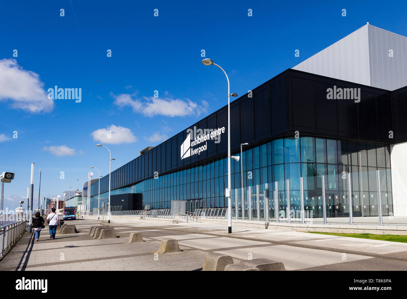 Liverpool Exhibition Centre, Kings Dock Liverpool waterfront,  part of The ACC Liverpool Group, with sister venues BT Convention Centre and M&S Arena - Stock Image