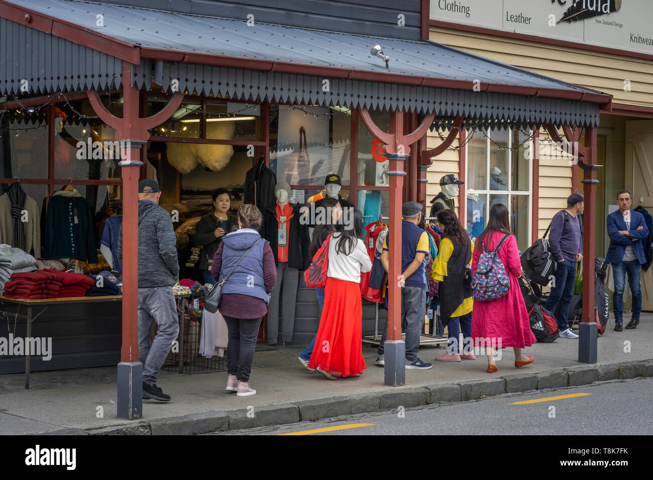 Arrowtown is a historic former gold mining town, rich in heritage and one of the South Island's and New Zealand's, iconic visitor destinations. Stock Photo